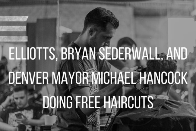 FREE HAIRCUTS WITH THE DENVER MAYOR!